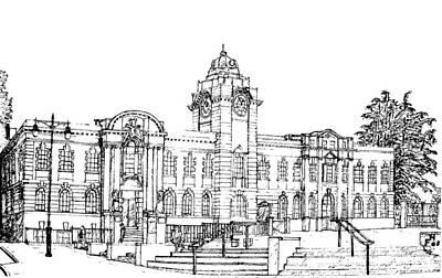 Barry Town Hall And Library Art Print