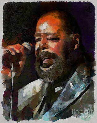 Digital Art - Barry White Collection - 1 by Sergey Lukashin