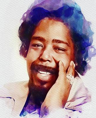 Music Paintings - Barry White, Music Legend by Esoterica Art Agency