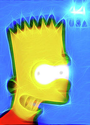 Canadian Culture Painting - Bart Simpson by Lanjee Chee