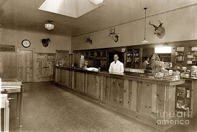 Photograph - Bartender Behind Bar Circa 1950 by California Views Archives Mr Pat Hathaway Archives