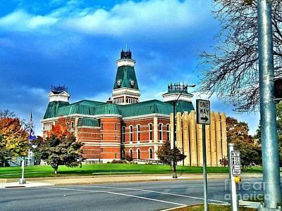 1874 Digital Art - Bartholomew County Courthouse Columbus Indiana  by Scott D Van Osdol