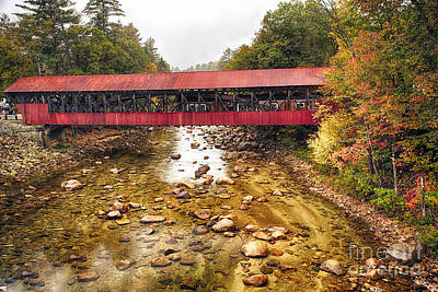 Bartlett Covered Bridge Print by George Oze