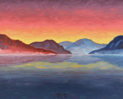 Painting - Bartlett Lake At Dusk by Robert J Diercksmeier