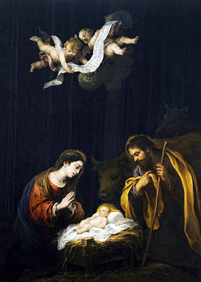 Photograph - Bartolome Esteban Murillo The Nativity by Munir Alawi