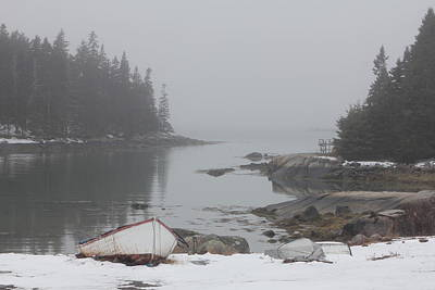 Photograph - Barton Island Cove by John Meader