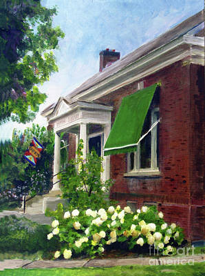 Painting - Barton Library by Donna Walsh