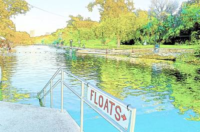 Photograph - Barton Springs Sketch by Kristina Deane