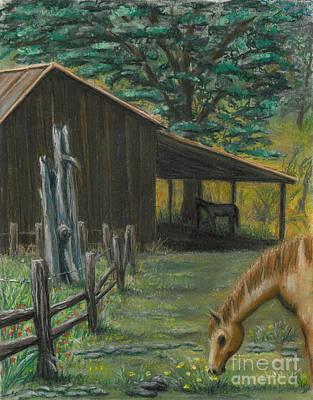 Pastel - Barton's Barn by Gail Finn