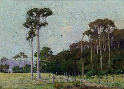 Barton Painting - Bartons Bush, Trentham, 1917, By Ernest George Hood by Celestial Images