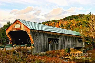 Photograph - Bartonsville Covered Bridge by DJ Florek