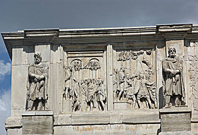 Wall Art - Photograph - Bas Relief At Arch Of Constantine by Linda Heberling