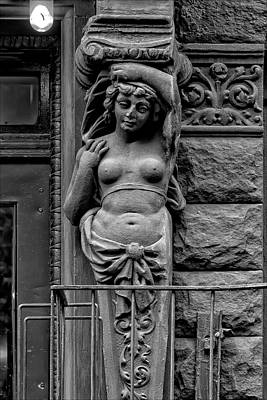 Nude Relief Photograph - Bas Relief Building Decoration by Robert Ullmann