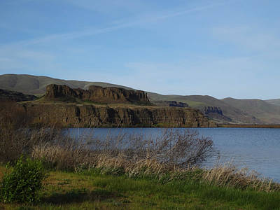 Photograph - Basalt Bluffs Horsethief Lake by Jacqueline  DiAnne Wasson