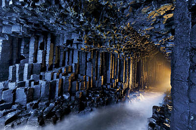 Basalt Pillars Line Fingals Cave Art Print by Jim Richardson