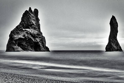 Photograph - Basalt Sea Stack - Iceland by Stuart Litoff