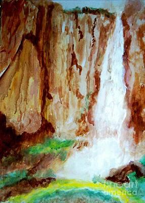 Painting - Basaseachl Falls Retreat Of Tarahumara by Stanley Morganstein