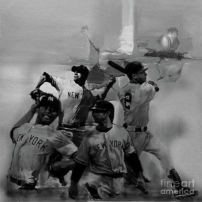 Baseball Cap Painting - Base Ball Players by Gull G