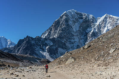 Photograph - Base Camp Trek Back To Tabuche by Mike Reid