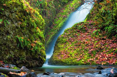 Photograph - Base Of Bridal Veil Falls  by Dee Browning