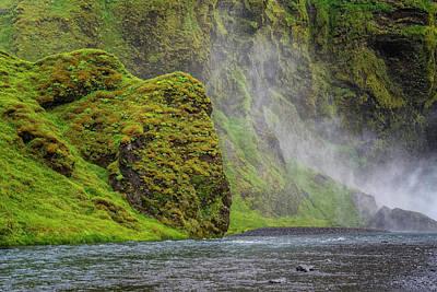 Photograph - Base Of Waterfall by Tom Singleton