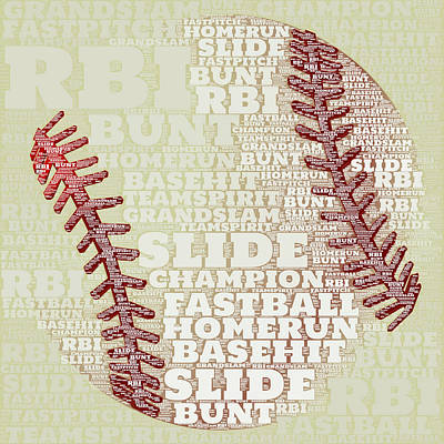 Champion Mixed Media - Baseball 2 by Brandi Fitzgerald