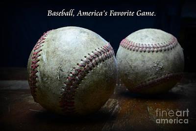 Baseball Close-up Photograph - Baseball Americas Favorite Game by Paul Ward
