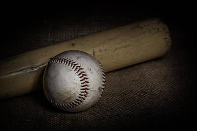 Painted Bat Photograph - Baseball And Bat by Erin Cadigan