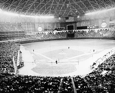 Spectators Photograph - Baseball: Astrodome, 1965 by Granger
