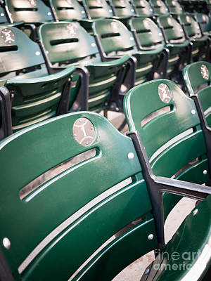 Bleachers Photograph - Baseball Ballpark Seats Photo by Paul Velgos