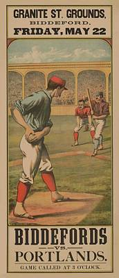 Mixed Media - Baseball Biddefords Vs Portlands May 22 1885 by Movie Poster Prints