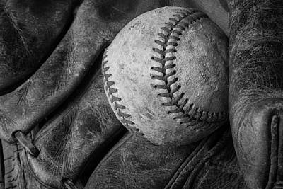 Baseball Black And White Art Print
