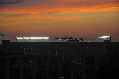 Photograph - Baseball Camden Yards Sunset by Marianne Campolongo