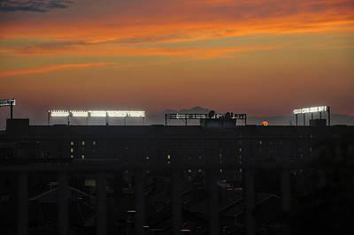 Photograph - Baseball Camden Yards Sunset by Marianne Campolongo