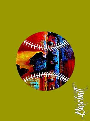 Ball Mixed Media - Baseball Collection by Marvin Blaine