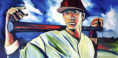 Painting - Baseball Crucifix by John Jr Gholson