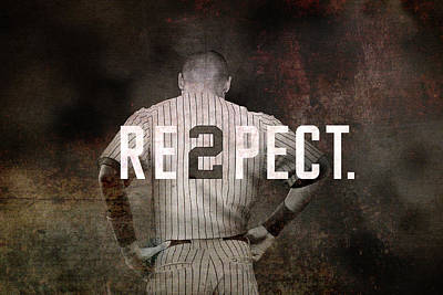 Best Sellers - Sports Royalty-Free and Rights-Managed Images - Baseball - Derek Jeter by Joann Vitali