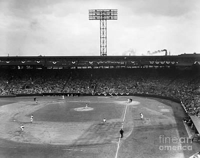 Oriole Wall Art - Photograph - Baseball: Fenway Park, 1956 by Granger