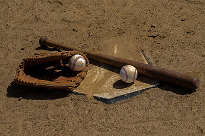 Homeplate Photograph - Baseball Game by Bill Cannon