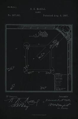 Digital Art - Baseball Game Patent Print by David Holm