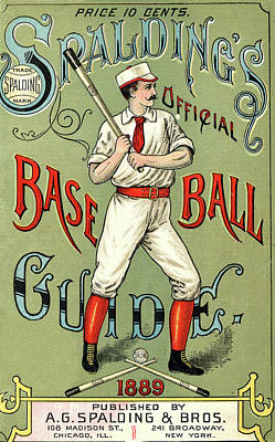 Painting - Baseball Guide by Vintage Pix