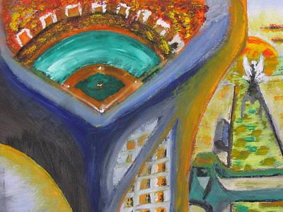 Baseball Heaven Art Print by Keith Cichlar