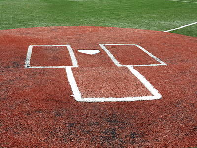 Photograph - Baseball - Home Plate by Frank Romeo