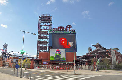 Baseball In Philadelphia - Citizens Bank Park Art Print by Bill Cannon