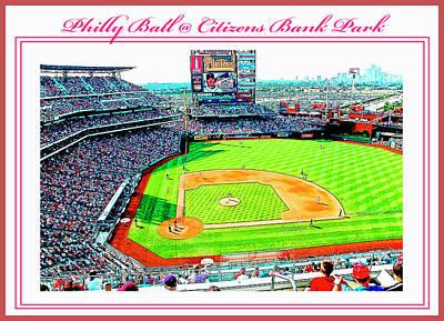 Citizens Bank Park Digital Art - Baseball In Philly by A Gurmankin