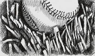 Baseball In The Grass Original