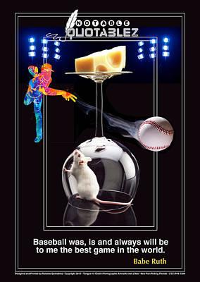 Babe Ruth Digital Art - Baseball Is The Greatest by Robert Green