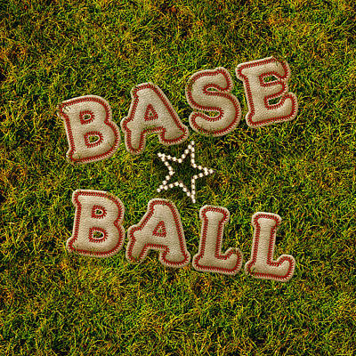 Digital Art - Baseball by La Reve Design
