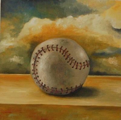 Baseball Art Print by Leah Saulnier The Painting Maniac