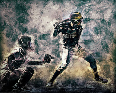 Photograph - Baseball  by Michael Arend
